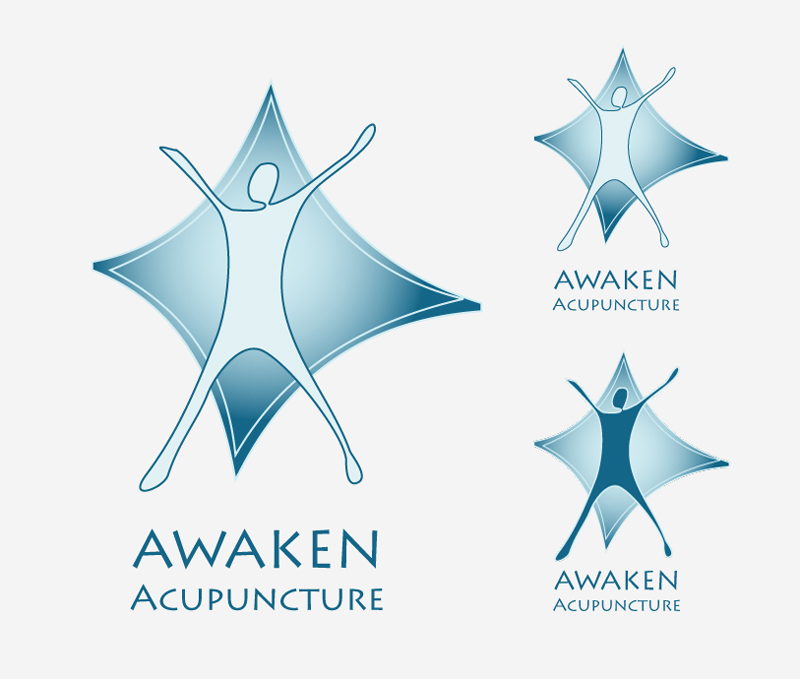 Logo & Design Key: Awaken Acupuncture