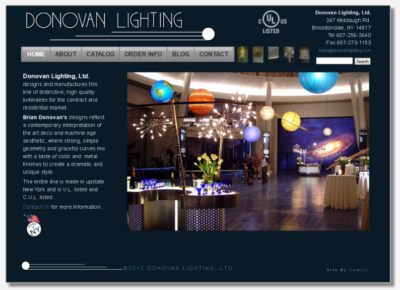 Web Design & Development: Donovan Lighting