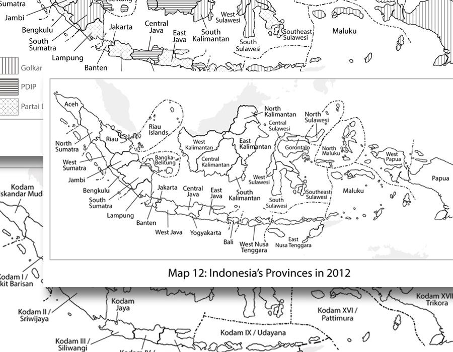 Illustration of Indonesian Maps by Camilo Nascimento for Client's Book