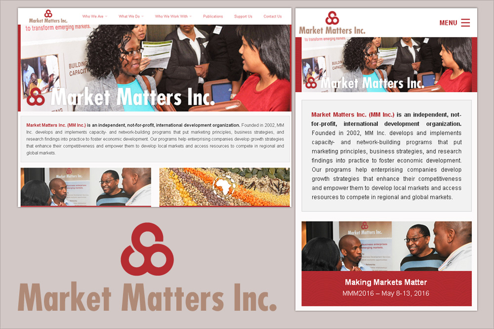 Website by camilo graphics for Market Matters Inc.