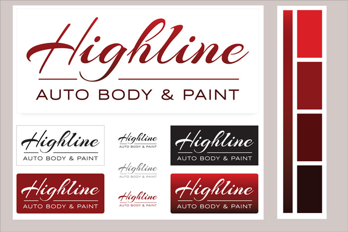 Logo Design by camilo graphics for Highline Auto Body & Paint