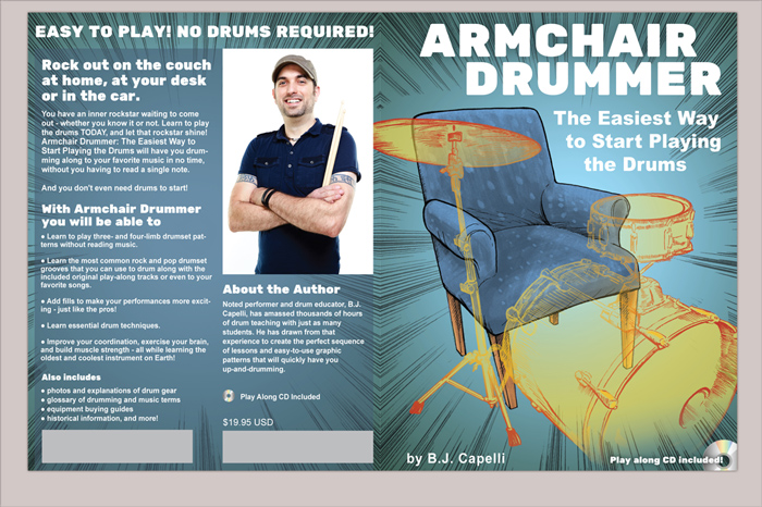Illustration by Camilo Nascimento for Armchair Drummer by B.J. Capelli