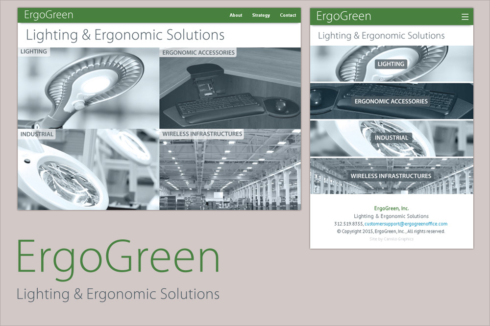 Website by camilo graphics for ErgoGreen