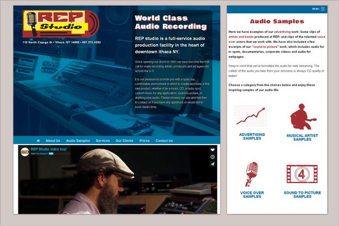 Website by camilo graphics for REP Studio