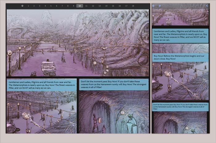 Website for Arhanta Comics Responsive Webcomics