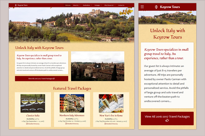 Website for Keyrow Tours