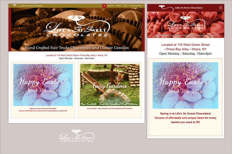 Website for Lifes So Sweet Chocolates